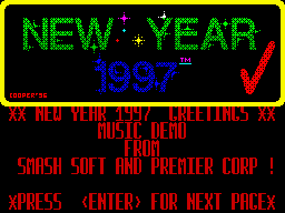 New Year 1997 Greetings